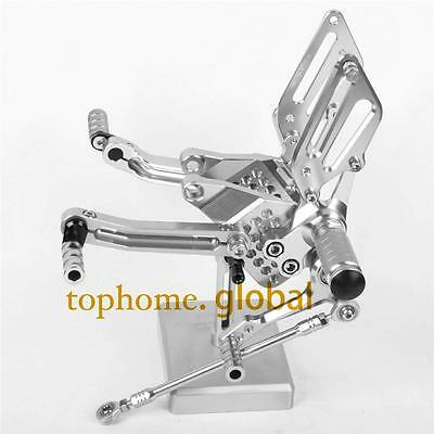 For Ducati 749 999 CNC Adjusting Rearset Footpegs Rear set Silver