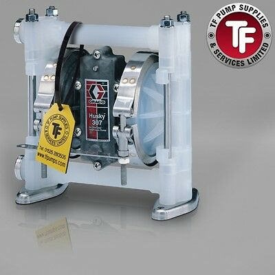 "3/8"" Graco Husky 307 / AT10/VA10 Air Diaphragm Pump AODD (Poly/PTFE) - D3B911"