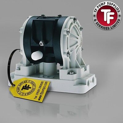 "1/4"" Graco Husky 205 / AT06/VA06 Air Diaphragm Pump AODD (Poly/PTFE) - D12091"