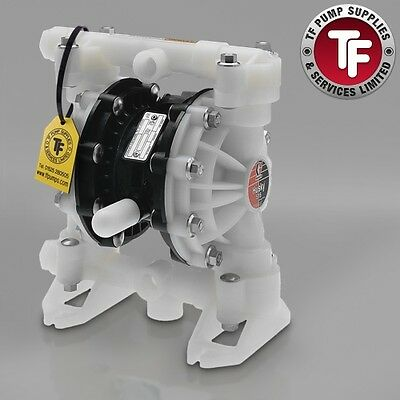 "1/2"" Graco Husky 515 / AT15/VA15 Air Diaphragm Pump AODD (Poly/Sant) - D5B966"