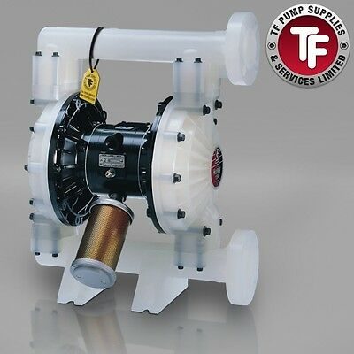 "1.5"" Graco Husky 1590 / AT40/VA40 Air Diaphragm Pump AODD (Poly/PTFE) - DB2911"