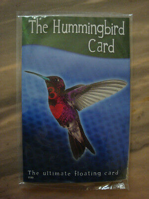 Magic Hummingbird Card With Dvd - Floating Card Trick Ultimate Spinning Illusion