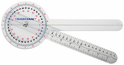 Vital Physio Goniometer Angle Ruler Joint Bend Measure Plastic 6 8 12 NHS Medic