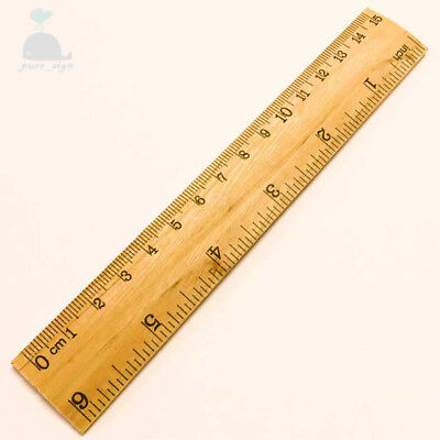 Good Quality 6 Inch 15cm Wooden Ruler 1 Piece