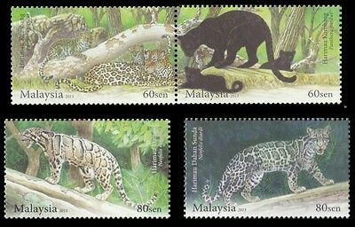 Endangered Big Cats Malaysia 2013 Tiger Leopard Wildlife Panther (stamp) MNH