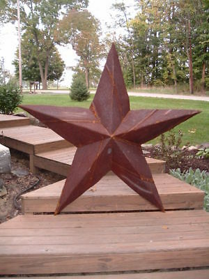 24''Rusted*Metal*Star*Barn*Old*Roof*Rusty*Sign*Texas*Rusty