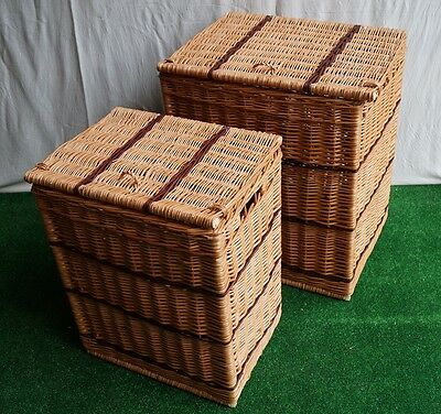Wicker Linen Laundry Bin Storage Basket Rectangular