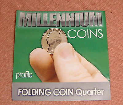 Folding Quarter, Profile Cut, Millennium Coin with Extra Rubber Bands (1407)