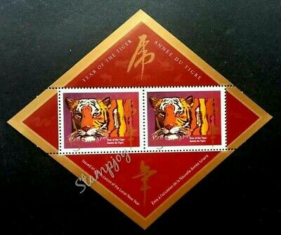 Canada Year Of The Tiger 1998 Big Cat Chinese Zodiac Lunar (ms) MNH