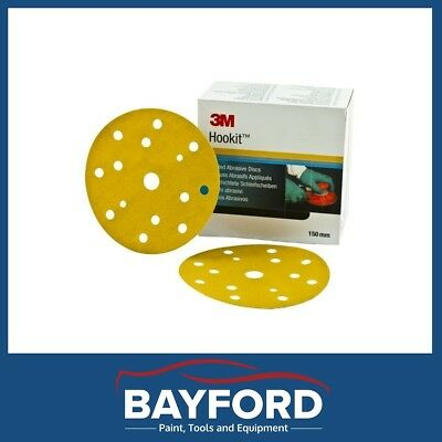 3M P180 Grit Discs Hookit Sanding Disc 150Mm Pack Of 50 15 Hole Sand Paper