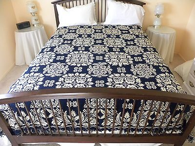 Jacquard         Double Weave     Coverlet               Dated   1834