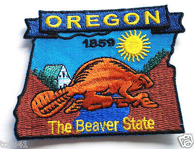 *** OREGON STATE MAP *** Biker Patch PM6738 EE