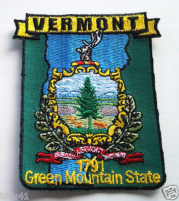*** VERMONT STATE MAP *** Biker Patch PM6746 EE