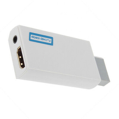 for wii HDMI 720P/1080P Output Upscaling 3.5mm Audio Video Converter Adapter OK!