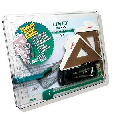 Linex A3 Drawing Board Bundle Drawing Measuring Stationery Office NEW