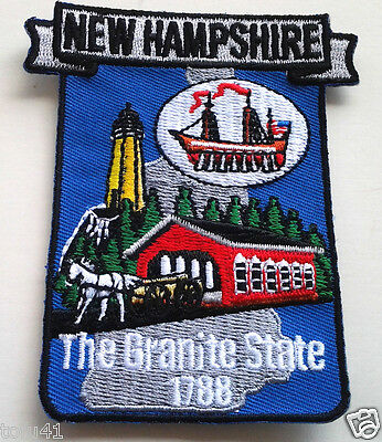 *** NEW HAMPSHIRE STATE MAP *** Biker Patch PM6730 EE