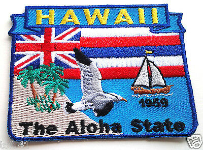 *** HAWAII STATE MAP *** Biker Patch PM6712 EE