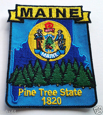 *** MAINE STATE MAP *** Biker Patch PM6720 EE
