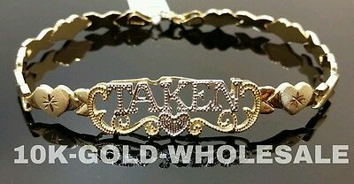 "Ladies 10K Yellow Gold Taken Bracelet 7.5"" 04737"