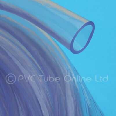 22mm ID (28mm OD) Clear Hose Pipe PVC Plastic Thick Wall - Food Safe Grade Tube