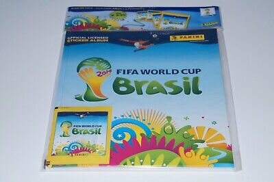 Panini World Cup Brazil 2014 - Deluxe Starter hardcover + 4 packs New & Limited