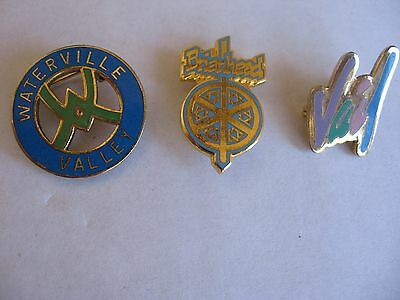 3 SKI RESORT LAPEL PINS FROM WATERVILLE, VAIL & BRIANHEAD***FREE SHIPPING***