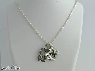 childs 3 pendant necklace Hello kitty Flower & Girl doll kids teenagers ladies