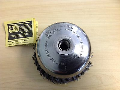 weiler 12276  single row wire cup brush 5 inch