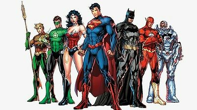 "Justice League Movie Fabric poster 24"" x 13"""