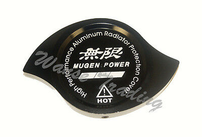 Black Anodized CNC Aluminum Mugen Radiator Cap Protection Guard Cover UNIVERSAL