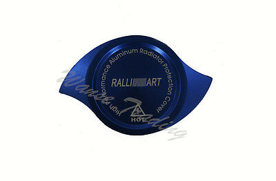 Blue Anodized CNC Billet Ralliart Radiator Cap Protection Guard Cover UNIVERSAL