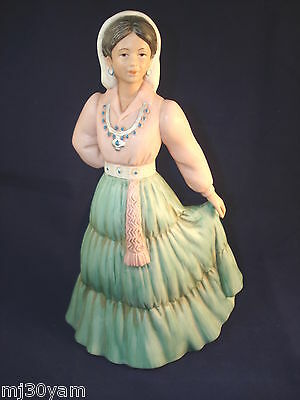 HOMCO PORCELAIN FIGURE WOMAN LADY DANCING 1485 HOME INTERIOR SOUTHWESTERN