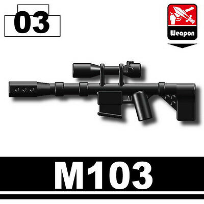 M110 Special Forces sniper rifle compatible with toy brick minifig W179 SASS