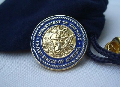 Masonic United States USA Department of the Navy Lapel Pin Plus Gift Pouch