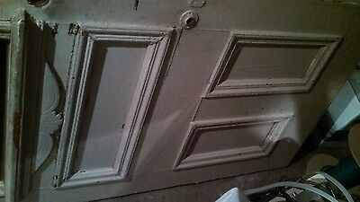 Antique solid wood door half glass
