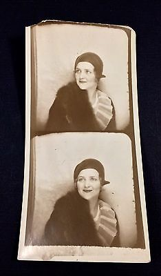 Art Deco Flapper Beauty Early Photo Booth Film Shots Antique Vintage