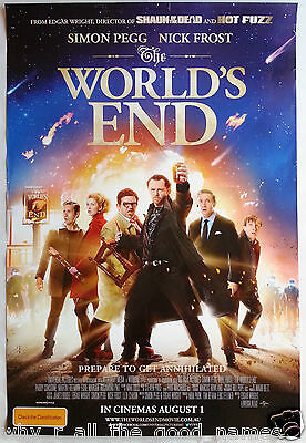 Movie Poster THE WORLD'S END 2013 Simon Pegg & Nick Frost - Sci-Fi Pub Comedy