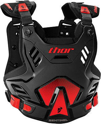Thor NEW Mx Sentinel XP Black Red Roost Chest Protector Motocross Body Armour