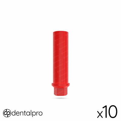 10 x Plastic Castable Abutment With Screw For Dental Implant , Implants Abutment