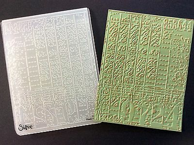 TIM HOLTZ Embossing Folder COLLAGE Sizzix and Cuttlebug compatible