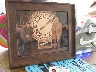 """Back to the Future 3 Doc & Marty / Clock 8""""x10"""" Repro Photo Prop Free Shipping"""