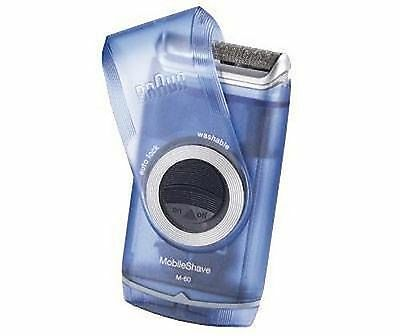 Braun MobileShave M-60b - Men's Electric Portable Shaver - Battery Powered