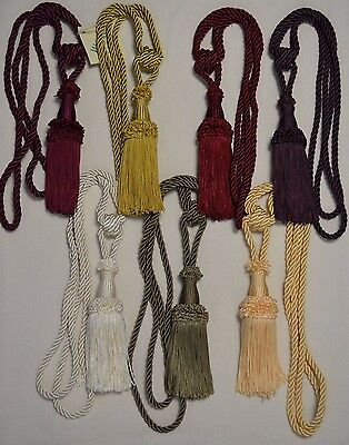 "Curtain & Chair Tie Back- 30""spread w/ 6"" tassel 8 bright colors to choose from!"