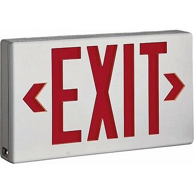 LED Exit Lighting Sign Fixture - Single or Double Face - White - NEW