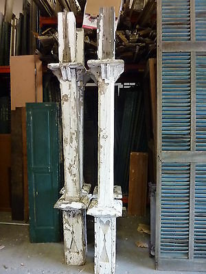 Set of FOUR fancy GINGERBREAD porch post pier COLUMNS decorative cutout ~ 100""