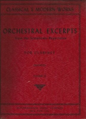 ORCHESTRAL EXCERPTS FROM THE SYMPHONIC REPERTOIRE FOR CLARINET Volume 4