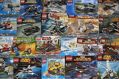 LEGO Poly bag sets STAR WARS MARVEL DC NINJAGO CITY CHIMA CREATOR FRIENDS DISNEY
