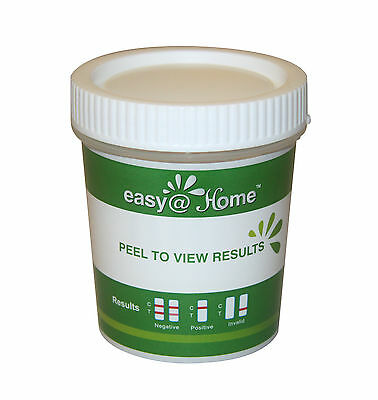 5 Pack Easy@Home 14 Panel Drug Test Cup +3 adulteration,Test THC, COC *, 1144A3