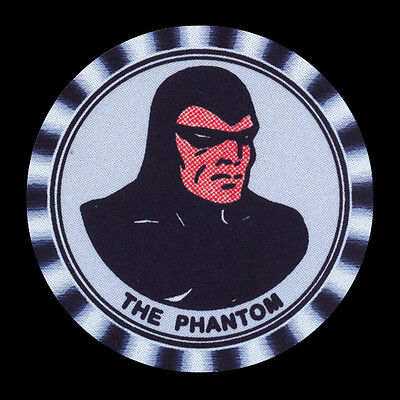 4 x THE PHANTOM, DRINK COASTERS - From an old KELLODGS Badge -