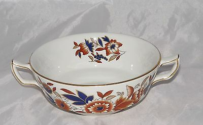 Vintage Booths Pottery Dovedale Pattern Soup Coupe Imari Colours